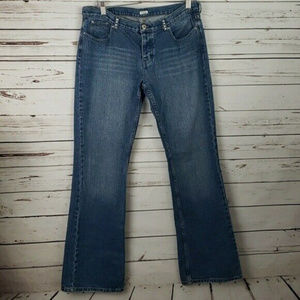 Guess Size 31 Button Fly Rhinestone Boot Cut Jeans